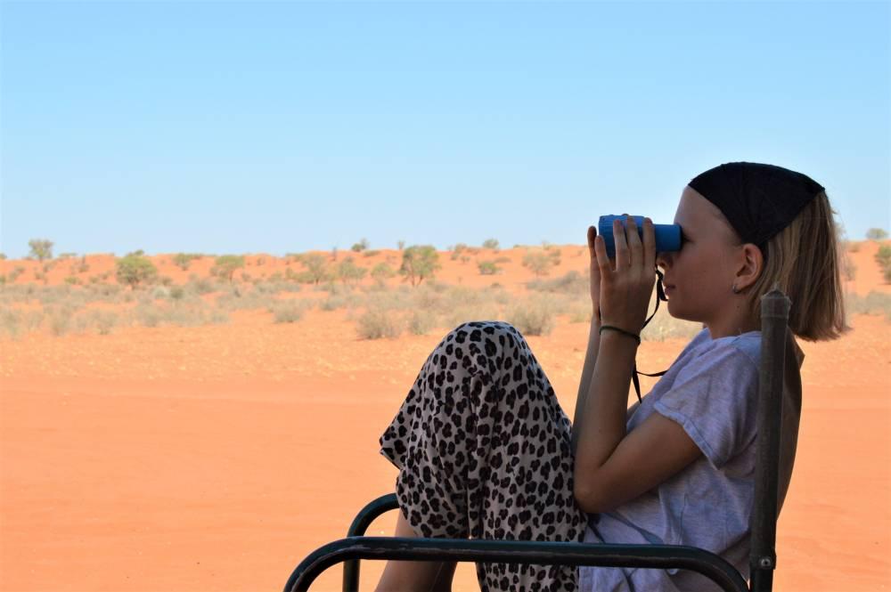 Namibia mit Kindern Kalahari